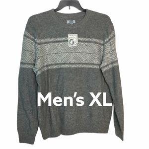 Croft & Barrow XL Crewneck Sweater Gray Fair NWT